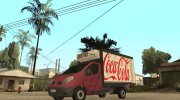 Renault Trafic Mk2 Coca Cola for GTA San Andreas miniature 1