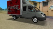 ГАЗель 33023 Coca-Cola for GTA Vice City miniature 2