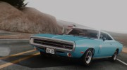 1970 Dodge Charger R/T 440 (XS29) для GTA San Andreas миниатюра 1