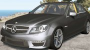 Mercedes-Benz C 63 AMG (W204) 2011 for BeamNG.Drive miniature 1