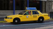 2011 Ford Crown Victoria LA Taxi for GTA 5 miniature 4