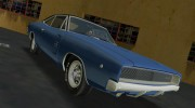 Dodge Charger 1968 RT 426 for GTA Vice City miniature 6