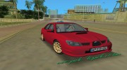 Subaru Impreza WRX STI 2006 для GTA Vice City миниатюра 1