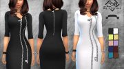 Zip Dress for Sims 4 miniature 1