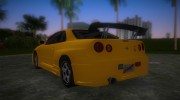 Nissan Skyline GTR R34 (Tuning 3) for GTA Vice City miniature 4