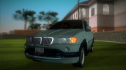 BMW X5 for GTA Vice City miniature 1