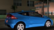 Honda CR-Z 2010 for GTA Vice City miniature 5