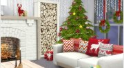 Scandinavian Christmas living for Sims 4 miniature 3