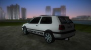 Volkswagen Golf 3 ABT VR6 Turbo Syncro for GTA Vice City miniature 4