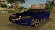 2015 Mercedes Benz S350 Bluetec for GTA Vice City miniature 1
