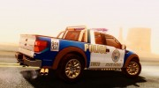 Ford F-150 SVT Raptor 2012 Police version for GTA San Andreas miniature 13