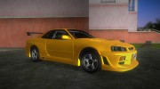 Nissan Skyline GTR R34 (Tuning 3) for GTA Vice City miniature 2