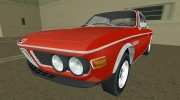 BMW 3.0 CSL 1971 for GTA Vice City miniature 1