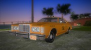 Ford Custom 500 (4-door) 1975 Taxi for GTA Vice City miniature 1