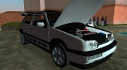 Volkswagen Golf 3 ABT VR6 Turbo Syncro for GTA Vice City miniature 8