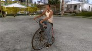 Penny-Farthing Ordinary Bicycle для GTA San Andreas миниатюра 1