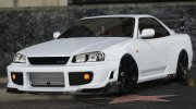 Nissan Skyline GT-R 34 Tommy Kaira for GTA 5 miniature 2