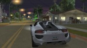 Porsche 918 Spyder Weissach Package 2015 для GTA San Andreas миниатюра 2