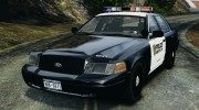 Ford Crown Victoria Police Interceptor 2003 Liberty City Police Department [ELS] для GTA 4 миниатюра 1