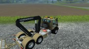 Mercedes-Benz Unimog crane devices Trailer for Farming Simulator 2013 miniature 8