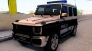 Mercedes-Benz G65 AMG BIH Police Car для GTA San Andreas миниатюра 1