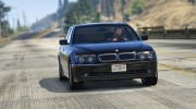 BMW 760i (e65) for GTA 5 miniature 2