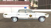 AMC Matador 1971 Hazzard County Sheriff for GTA San Andreas miniature 6