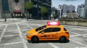 Peugeot 308 GTi 2011 Taxi v1.1 for GTA 4 miniature 2