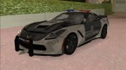 Chevrolet Corvette C7 Police for GTA Vice City miniature 2