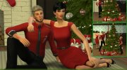 Christmas in Love - Pose Pack for Sims 4 miniature 1