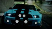 Ford Mustang Shelby GT500 2013 v1.0 for GTA San Andreas miniature 8
