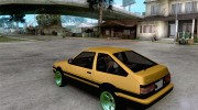 Toyota Corolla Carib AE86 for GTA San Andreas miniature 3