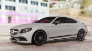 Mercedes-Benz C63S AMG Coupe 2017 для GTA San Andreas миниатюра 4