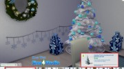 4 Recoloured Holiday Christmas Tree Set for Sims 4 miniature 6
