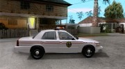 Ford Crown Victoria North Dakota Police для GTA San Andreas миниатюра 5