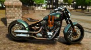 Harley Davidson Fat Boy Lo Racing Bobber для GTA 4 миниатюра 2