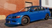 Mitsubishi Lancer EVO 8 MR Tunable for GTA 5 miniature 3