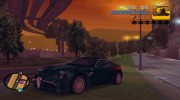 Alfa Romeo 8C Competizione TT Black Revel for GTA 3 miniature 1