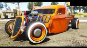 1936 Ford Pickup Hotrod Style for GTA 5 miniature 2