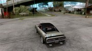 Dodge Charger R/T 1969 для GTA San Andreas миниатюра 3
