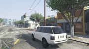 Range Rover Supercharged 2012 для GTA 5 миниатюра 3