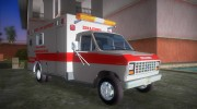 Ford Econoline 1986 Ambulance for GTA Vice City miniature 2