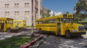 Caisson Elementary C School Bus для GTA 5 миниатюра 10