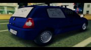 Renault Clio Campus Food Delivery for GTA San Andreas miniature 3