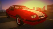 Dodge Daytona Turbo CZ 1986 for GTA Vice City miniature 2