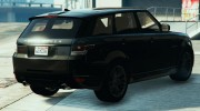 Ranger Rover Sport HST 2016 for GTA 5 miniature 4