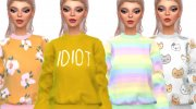 Tumblr Themed Sweatshirts - Mesh Needed for Sims 4 miniature 1