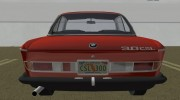 BMW 3.0 CSL 1971 for GTA Vice City miniature 3