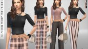Spring Pink Love Outfit for Sims 4 miniature 1