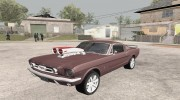 1966 Ford Mustang Fastback Chrome Edition for GTA San Andreas miniature 1